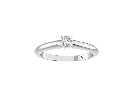 Petite Classic Brilliant-Cut Diamond Ring - RP0508.01