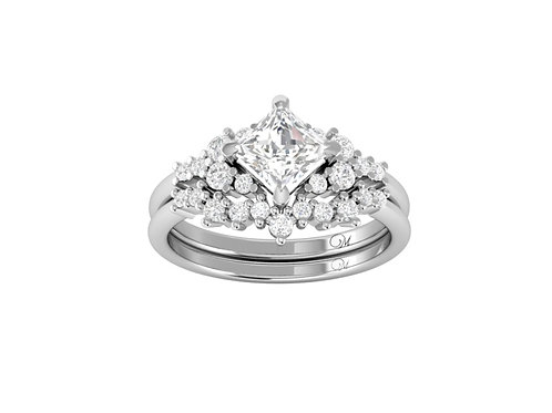 Princess-Cut Diamond Bridal Set - RP2859