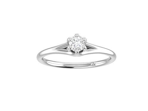 Petite Brilliant-Cut Diamond Ring - RP4027