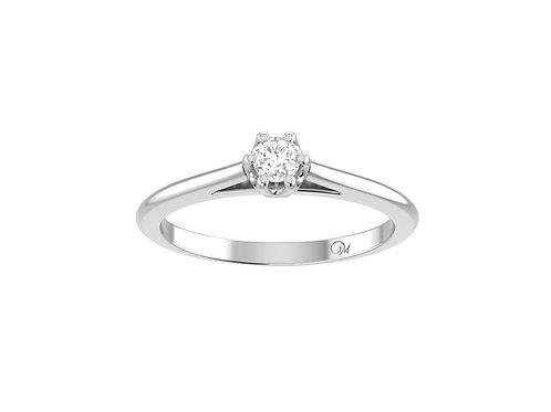 Petite Brilliant-Cut Diamond Ring - RP4020