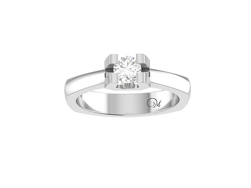Petite Contemporary Brilliant-Cut Diamond Ring - RP1384