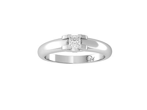 Petite Floating Princess-Cut Diamond Ring - RP2074