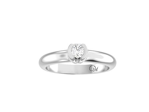 Petite Brilliant-Cut Diamond Ring - RP2115