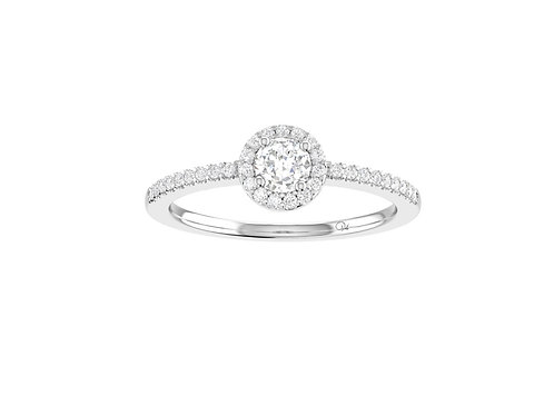 Petite Halo Brilliant-Cut Diamond Ring - RP1342