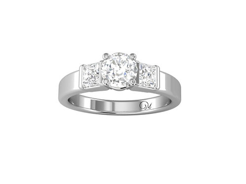 Three Stone Brilliant-Cut Diamond Ring - RP0045.01