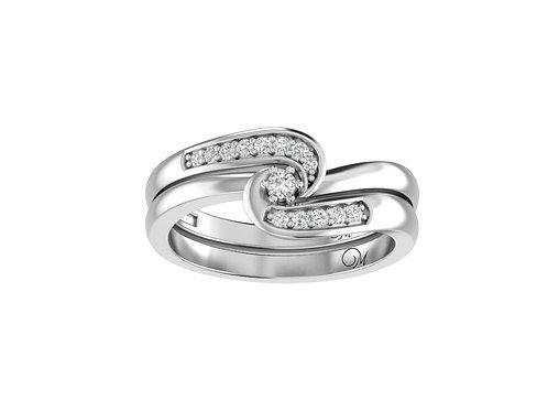 Petite Bypass Diamond Bridal Set - RP1121