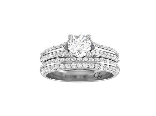 Diamond Paved Bridal Set - RP1732