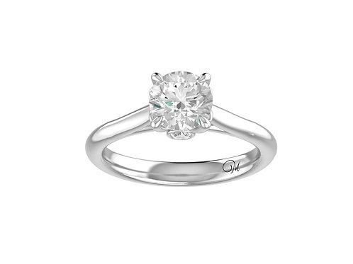 Delicate Shank Brilliant-Cut Diamond Ring - RP1075