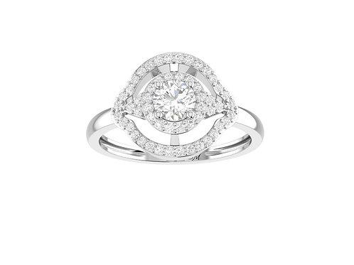 Petite Halo Brilliant-Cut Diamond Ring - RP1361