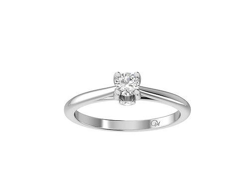 Petite Delicate Shank Brilliant-Cut Diamond Ring - RP1075.01