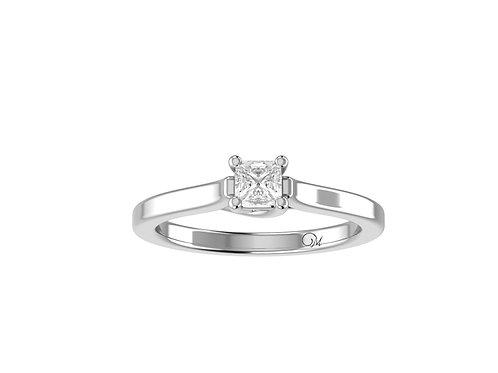 Petite Solitaire Princess-Cut Diamond Ring - RP0098.01