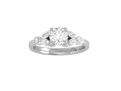 Brilliant-Cut Fancy Diamond Ring - RP2854