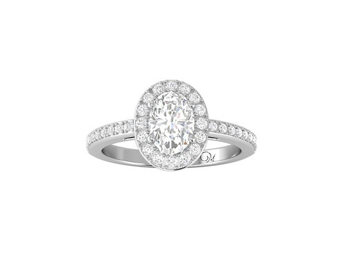 Halo Oval-Cut Diamond Ring - RP2850