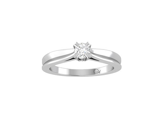 Petite Brilliant-Cut Diamond Ring - RP0107.01