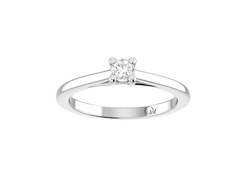 Petite Solitaire Brilliant-Cut Diamond Ring - RP4024