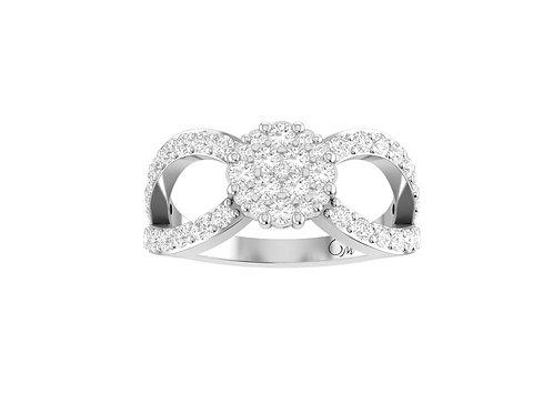 Petite Beautiful Cluster Diamond Ring - RP1341