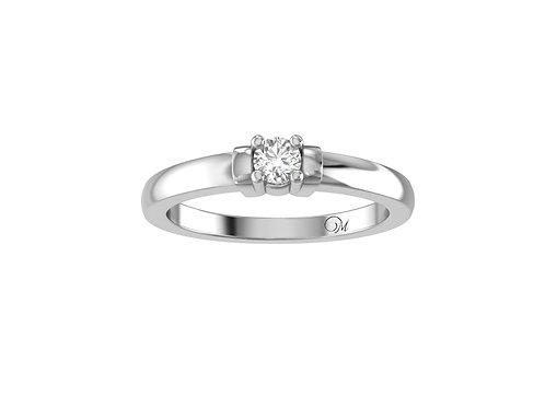 Petite Classic Round Brilliant-Cut Diamond Ring - RP0121.01