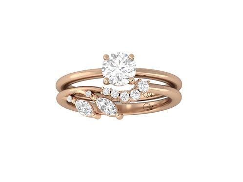Brilliant-Cut Diamond Bridal Set - RP2845