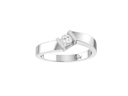 Petite Solitaire Brilliant-Cut Diamond Ring - RP2120