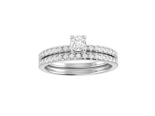 Petite Fancy Diamond Bridal Set - RP4002