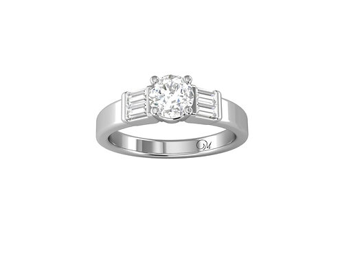 Three Stone Brilliant-Cut Diamond Ring - RP0045