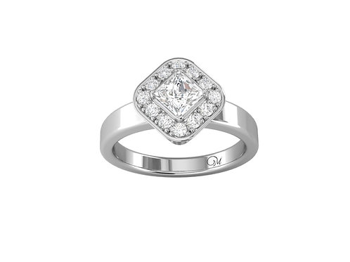 Halo Brilliant-Cut Diamond Ring - RP0044