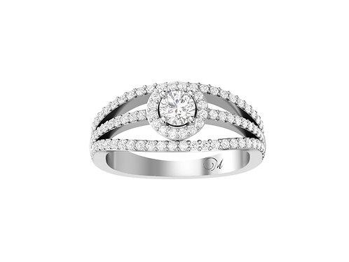 Petite Halo Brilliant-Cut Diamond Ring - RP1350