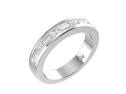 Princess-Cut And Marquise-Cut DiamondMen's Wedding Band - RP1194