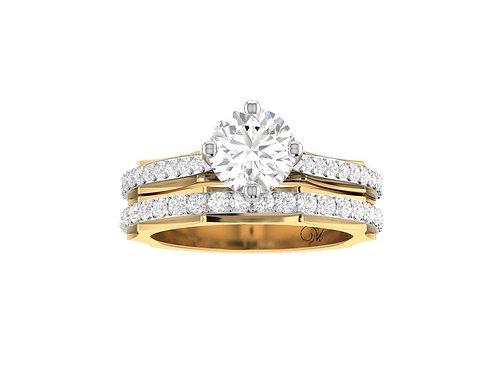 Two-Tone Diamond Bridal Set - RP1735