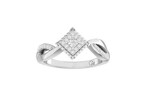 Petite Princess-Cut Diamond Ring - RP0144
