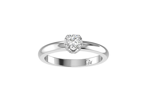 Petite Brilliant-Cut Diamond Ring - RP2051
