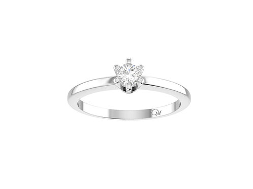 Petite Brilliant-Cut Diamond Ring - RP0218.01