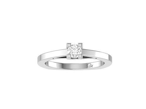 Petite Brilliant-Cut Diamond Ring - RP0651.01