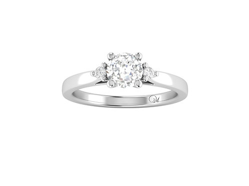 Three Stone Princess-Cut Diamond Ring - RP2858.01
