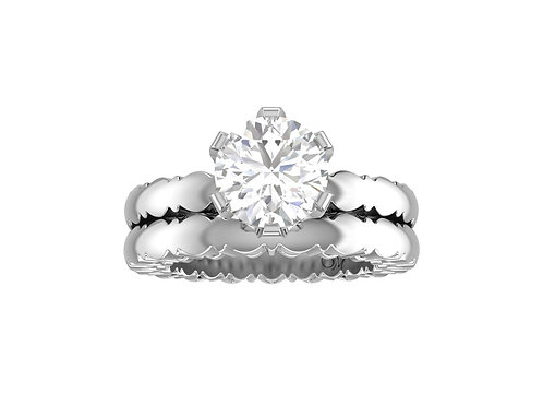 Brilliant-Cut Diamond Bridal Set - RP0534
