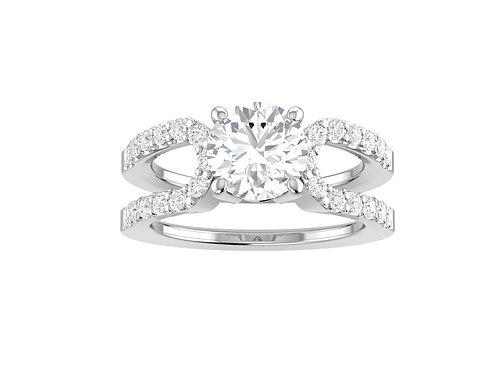Split Shank Brilliant-Cut Diamond Ring - RP1419