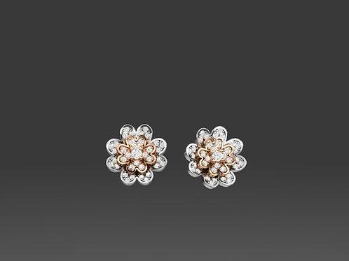 Diamond Flower Earrings - PR2486