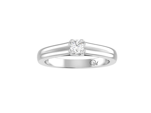 Petite Solitaire Brilliant-Cut Diamond Ring - RP2058