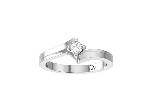 Petite Solitaire Brilliant-Cut Diamond Ring - RP2062