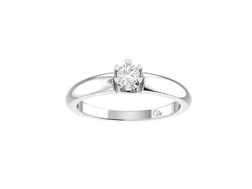 Petite Solitaire Brilliant-Cut Diamond Ring - RP2179