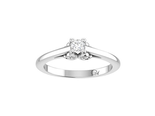 Petite Brilliant-Cut Diamond Ring - RP4021
