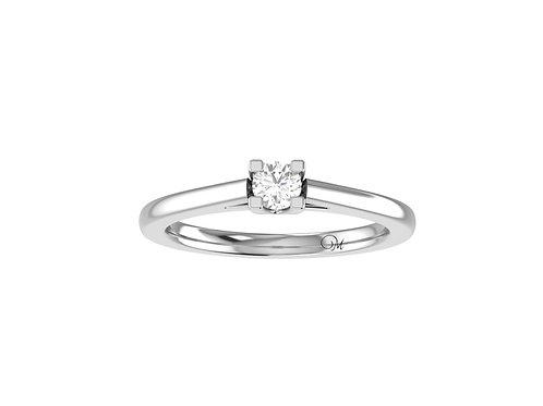 Petite Classic Brilliant-Cut Diamond Ring - RP1236.01