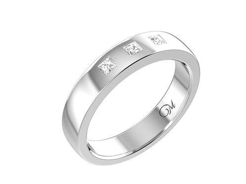 Men's Princess-Cut Diamond Band - RP0232