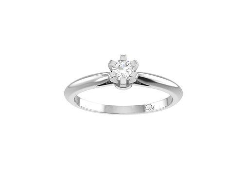 Petite Brilliant-Cut Diamond Ring - RP1392.02