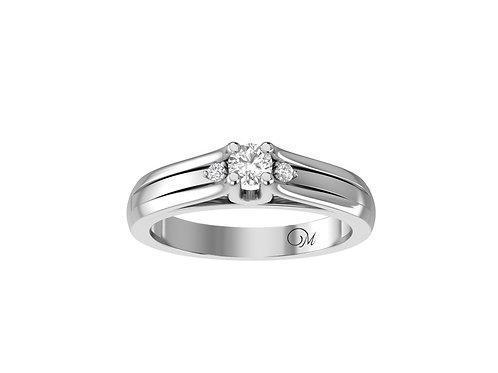 Petite Brilliant-Cut Diamond Ring - RP2069