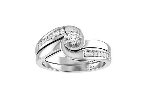 Petite Bypass Diamond Bridal Set - RP1173