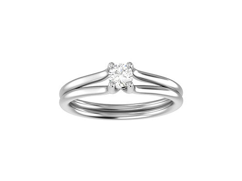 Petite Split Shank Brilliant-Cut Diamond Ring - RP1365.01