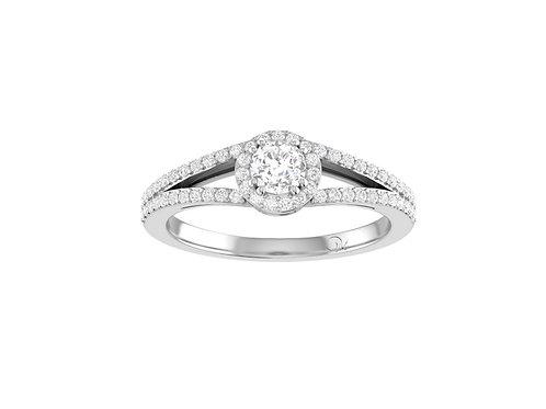 Petite Halo Brilliant-Cut Diamond Ring - RP1346
