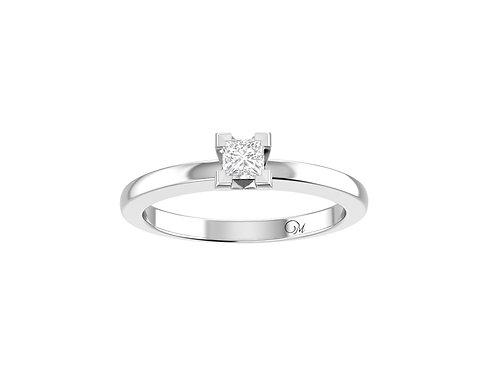 Petite Solitaire Princess-Cut Diamond Ring - RP2054