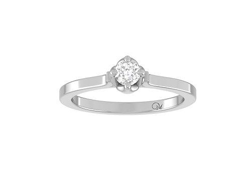 Petite Brilliant-Cut Diamond Ring - RP4018